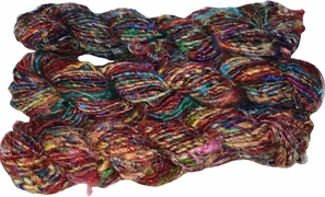 100g Himalayan SILK Yarn Red Multi