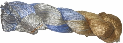 100g Mulberry QUEEN SILK 300 yrd Worsted Luxury Yarn Lavender Gold Silver