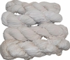 100g Sari Chiffon SILK Ribbon Yarn Off White Cream