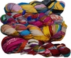 100g Sari Chiffon SILK Ribbon Yarn Rainbow New