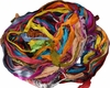 100g Sari Chiffon SILK Ribbon Yarn Rainbow
