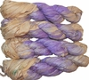 100g Sari SILK Ribbon Art Yarn African Violet Cream