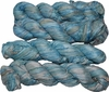 100g Sari SILK Ribbon Art Yarn Air Force Blue