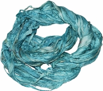 Sari SILK 100g Ribbon Yarn Aqua