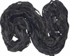 Sari SILK 100g Ribbon Yarn Black