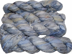 100g Sari SILK Ribbon Art Yarn Blue Angel