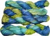 100g Sari SILK Ribbon Art Yarn Blue Lime