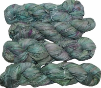100g Sari SILK Ribbon Art Yarn Cadet Blue