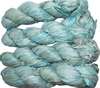 100g Sari SILK Ribbon Art Yarn Cyan