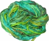 Sari SILK 100g Ribbon Yarn Green Yellow