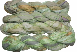 100g Sari SILK Ribbon Art Yarn Honeydew Green
