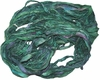 100g Sari SILK Ribbon Yarn Lucky Green