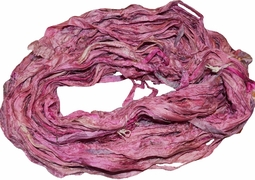 100g Sari SILK Ribbon Yarn Magenta Purple