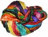 Sari SILK 100g Ribbon Yarn Multi Flash