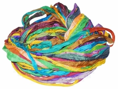 Sari SILK 100g Ribbon Yarn Multi Mermaid