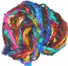 Sari SILK 100g Ribbon Yarn Multi Parrot
