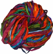 Sari SILK 100g Ribbon Yarn Multi SunSet