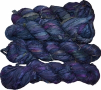 100g Sari SILK Ribbon Art Yarn Navy
