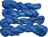 100g Sari SILK Ribbon Art Yarn Navy Blue Shades