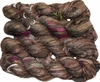 100g Sari SILK Ribbon Art Yarn Olive Brown