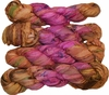 100g Sari SILK Ribbon Art Yarn Pink Gold