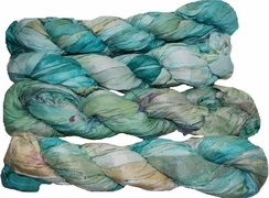 100g Sari SILK Ribbon Art Yarn Powder Blue