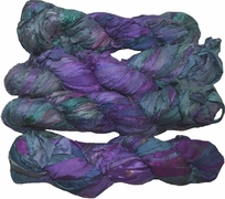 100g Sari SILK Ribbon Art Yarn Purple Hunter