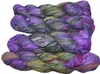 100g Sari SILK Ribbon Art Yarn Purple Olive