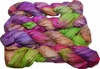 100g Sari SILK Ribbon Art Yarn PurplePink Green Garden