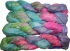 100g Sari SILK Ribbon Art Yarn Rainbow