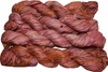 100g Sari SILK Ribbon Art Yarn Red Brown