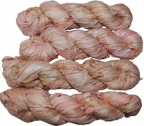 100g Sari SILK Ribbon Art Yarn Salmon