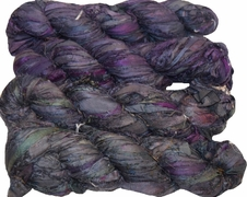 100g Sari SILK Ribbon Art Yarn Tanzanite