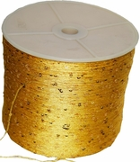 SEQUIN Sparkly Novelty Yarn Gold 2650 yards, 500 gram cone
