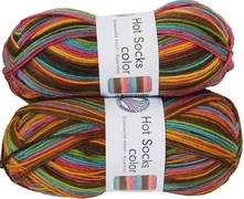 100g GERMAN Silky Self Striping SuperWash SOCK Yarn Hot Color Grundl 400