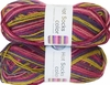 100g GERMAN Silky Self Striping SuperWash SOCK Yarn Hot Color Grundl 402