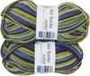 100g GERMAN Silky Self Striping SuperWash SOCK Yarn Hot Color Grundl 403