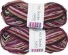 100g GERMAN Silky Self Striping SuperWash SOCK Yarn Hot Color Grundl 408