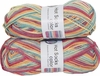 100g GERMAN Silky Self Striping SuperWash SOCK Yarn Hot Color Grundl 410