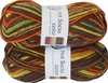 100g GERMAN Silky Self Striping SuperWash SOCK Yarn Hot Color Grundl 412