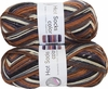 100g GERMAN Silky Self Striping SuperWash SOCK Yarn Hot Color Grundl 413