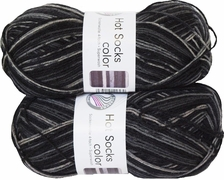 100g GERMAN Silky Self Striping SuperWash SOCK Yarn Hot Color Grundl 416