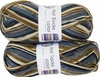 100g GERMAN Silky Self Striping SuperWash SOCK Yarn Hot Color Grundl 419