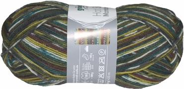 100g GERMAN Silky Self Striping SuperWash SOCK Yarn Mambo Grundl 02