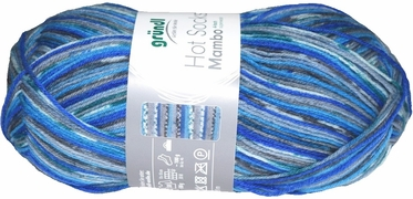 100g GERMAN Silky Self Striping SuperWash SOCK Yarn Mambo Grundl 07
