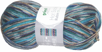 100g GERMAN Silky Self Striping SuperWash SOCK Yarn Rubin Grundl 06