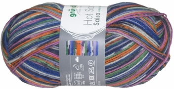 100g GERMAN Silky Self Striping SuperWash SOCK Yarn Salsa Grundl 01