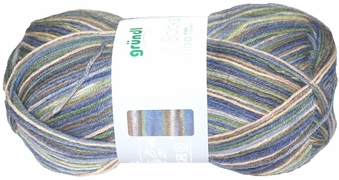 100g GERMAN Silky Self Striping SuperWash SOCK Yarn Samba Grundl 03