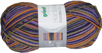 100g GERMAN Silky Self Striping SuperWash SOCK Yarn Samba Grundl 07