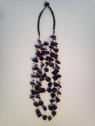 Bali Faux Black Seaglass Necklace